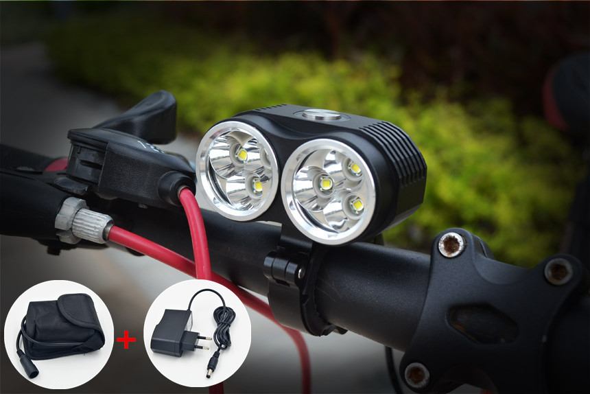 New bicycle lamp bike light 10000LM 6 x Cree XM-L T6 LED Bicycle Light 3 Modes with 6x18650 8.4v 10800mAh Battery Pack + Charger