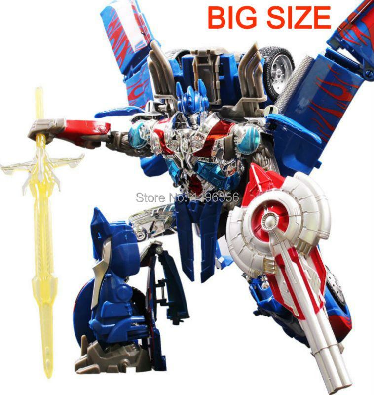 40 CM Big Size Awesome Cool Transformation Robot Aubot Toy With Two Shields And One Sword Optimus Prime Toy Action Figure(China (Mainland))