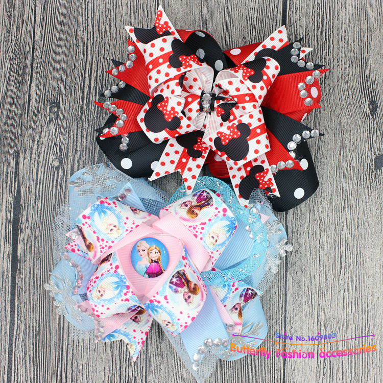 10pcs/lot free shipping spakle Twisted Boutique Hair Bow for children girls decorations for hair accesorios para el pelo(China (Mainland))
