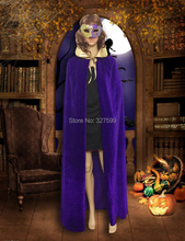Wholesale exclusive design Velour  Gold silver collar  Hooded Velvet Cloak Gothic Wicca Robe Medieval Witchcraft Larp Cape S-XL