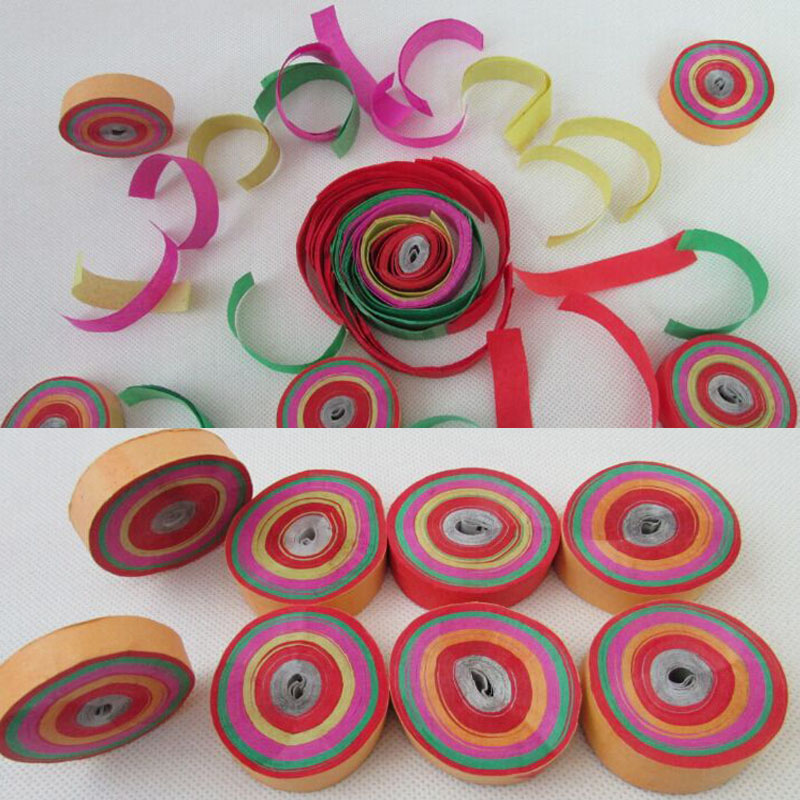 12pcs/lot Dia.4.5cm colorful Hand Throwing Party Popper Frisbee Paper Confetti(China (Mainland))