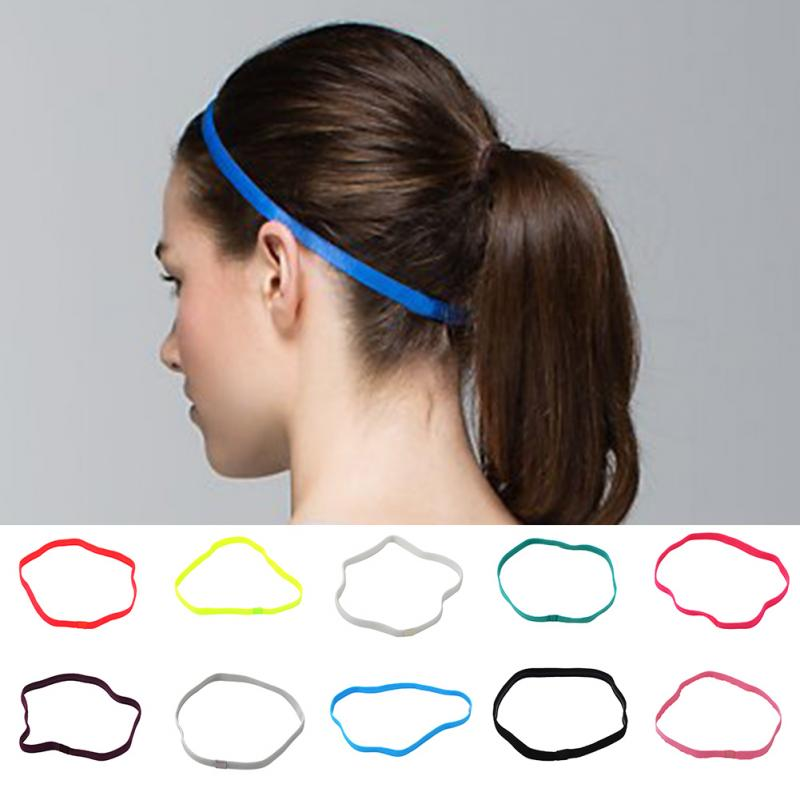 1Pc Women Men Sport hair bands Sports headband girls sport Anti-slip Elastic Rubber Sweatband High Quality Free Shipping(China (Mainland))