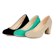 Aima Brand 2016 Spring Summer Big Size 34-43 Black Green Nude Suede Classic Sexy Pointed Toe High Heels Women Pumps Shoes