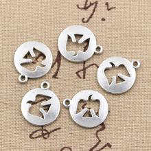 Buy 30pcs Charms peace dove cut 17*15mm handmade Craft pendant making fit,Vintage Tibetan Silver,DIY bracelet necklace for $2.66 in AliExpress store