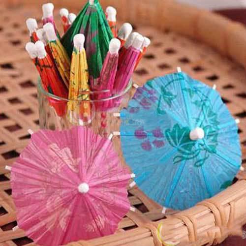 Bidbus Fast 23Pcs Paper Cocktail Parasols Umbrellas Party Wedding Supplies Luau Drink Stick(China (Mainland))