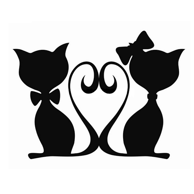 16*12CM CATS LOVE Pet Cat Car Stickers Decals Motorcycle Fun Car Styling N7383(China (Mainland))