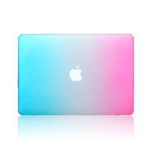 Laptop Hard Case For apple Macbook air 13 pro 13 retina 13 12 case sleeve air 11 pro 15 notbook Ranbow color Shell without logo