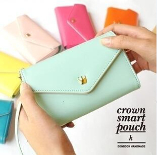 Free Shipping Womens Multi Propose envelope Wallet Purse handbag for Galaxy S2 S3 iphone 4 4S 5 Case,more color<br><br>Aliexpress