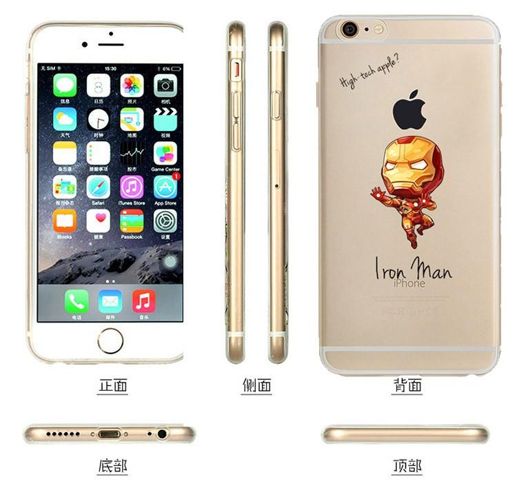 Batman for iphone 6 case Bat ManSuper Man Black Widow clown Capatain phone case cover Skin for apple iphone 6 Plus 5 5S SE cases
