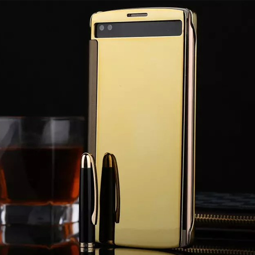 Luxury View Window Flip phone cover case For LG V10 Clean Mirror Hard PC Plastic PU Leather phone shell(China (Mainland))