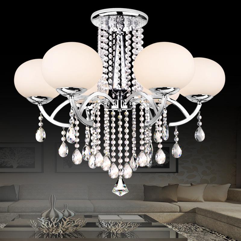 Achetez en gros lustre en cristal abat jour en ligne des for Gros lustre moderne