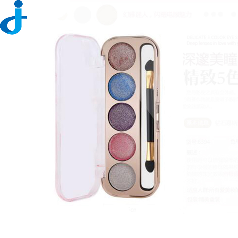5 Color Fashion Eye Shadow Palette Cosmetics Colorful/ Diamond/Pearl Eyeshadow Makeup Naked Circular Colored Makeup Palette H59(China (Mainland))