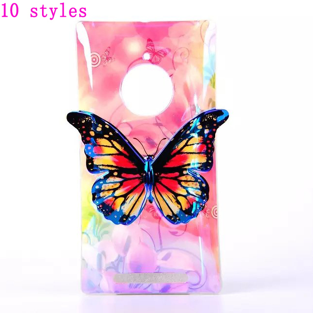 cartoon 3D phone cases For Nokia Lumia 830 blue butterfly soft TPU protector back cover For Nokia Lumia 830 Mobile phone case(China (Mainland))