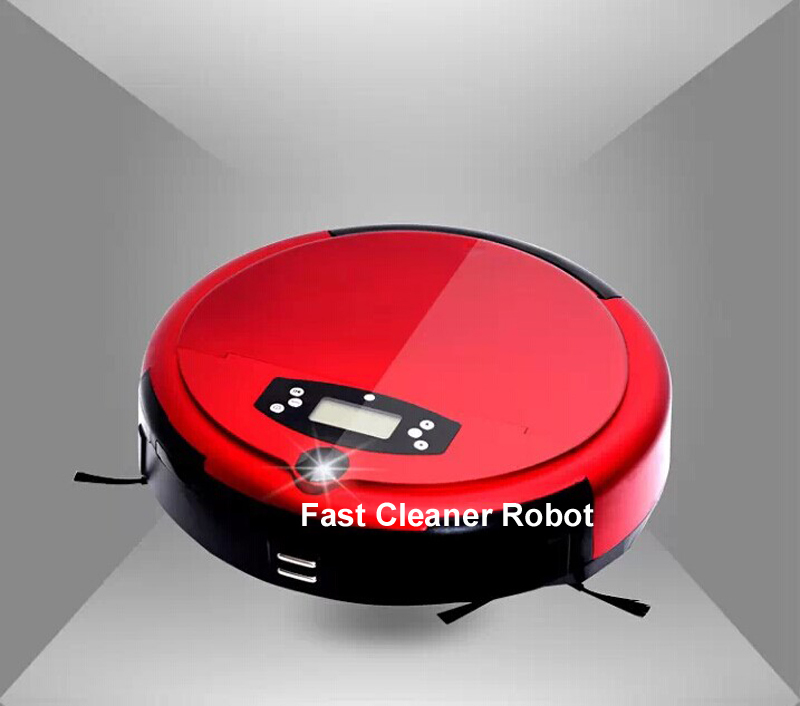 Free Shipping Voice Function, Dirt Detection Function Wet&Dry Mopping  Robot Vacuum Cleaner With Two Side Brush,0.7L Dustbin,
