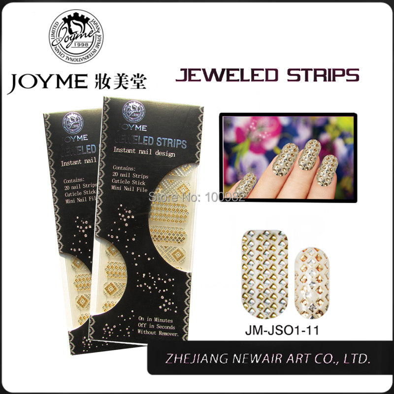 2015 Brand New FullCover Adesivos Nails Art Stickers Bright Diamond Sticker & Decals Beauty Jewelry Stone Nails Strips(China (Mainland))
