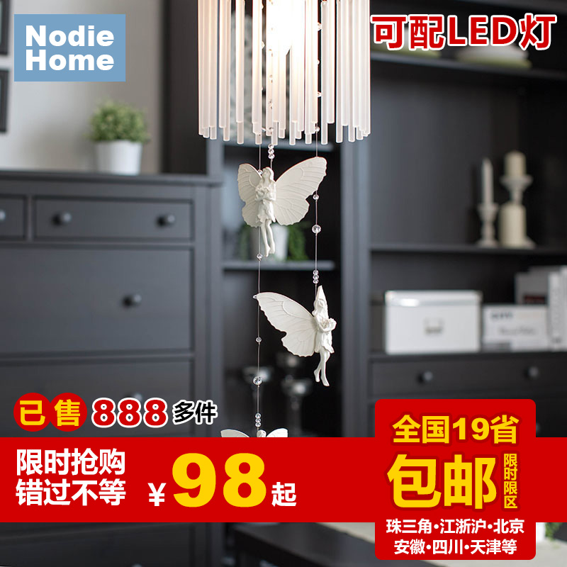 Decoration Holy brief iron Angle glass Wind Chime E14 ceiling light stair Restaurant bedroom entrance crystal aisle balcony lamp<br><br>Aliexpress