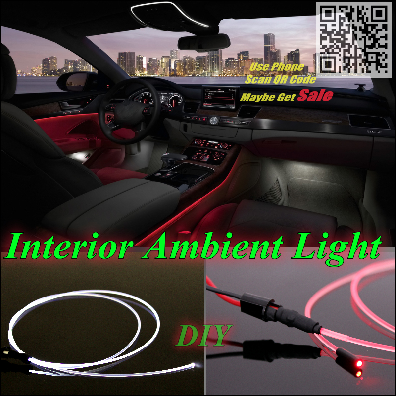 For Audi A8 S8 RS8 1994~Up Car Interior Ambient Light Panel illumination For Car Inside Air Cool Strip Light / Optic Fiber Band(China (Mainland))