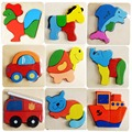 Wooden Animals Kid Baby Educational Development 3D Puzzle Toys for Children Puzzle Cartoon Jigsaw Picture Make