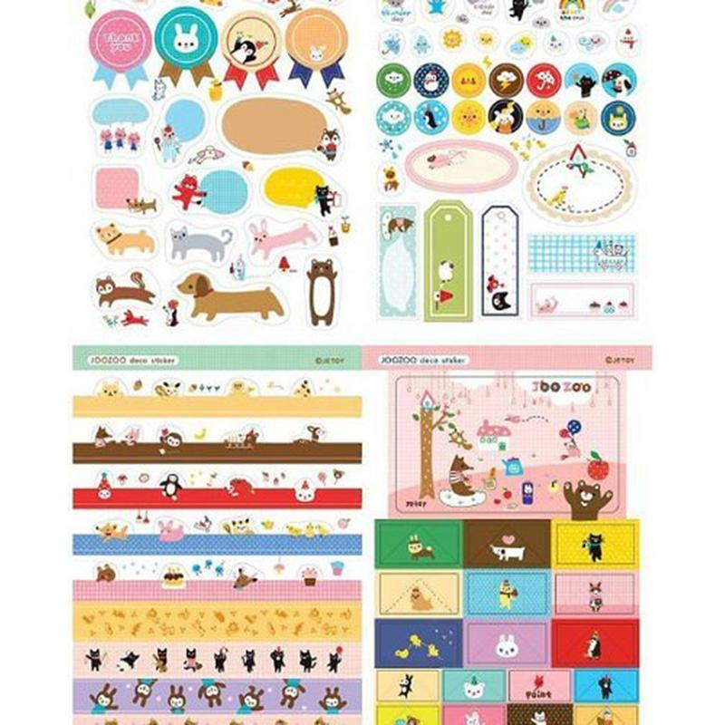 8 Sheets/1 Planner Calendar Book Cute Diary Sticker Pack Cute Paper Craft Memo Pads Lovely DIY Stickers Scrapbook Decoration(China (Mainland))