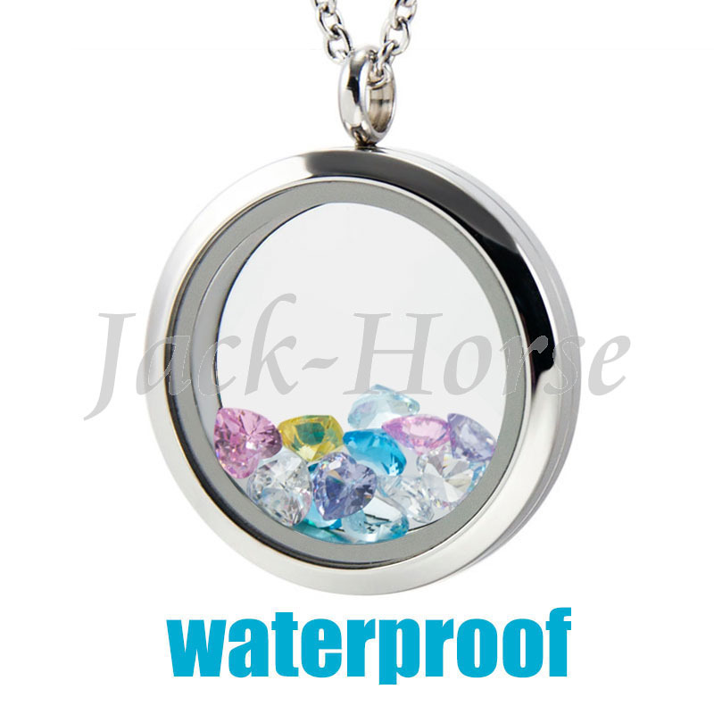 316L Stainless Steel Water Proof 20mm 25mm 30mm glass memory floating locket living locket floating charm locket(China (Mainland))
