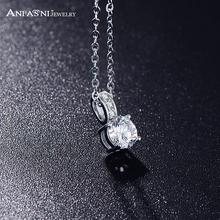 2015 Necklace Fashion Women Jewelry Round Cut Zircon Pendant Necklace Real Platinum Plated Classic Wedding Necklace CNL0019-B(China (Mainland))