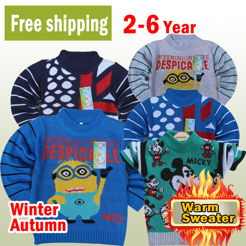 Free shipping new 2015 Kids sweater autumn/winter wear girls and boys sweater children bear pullovers baby sweater outerwear(China (Mainland))