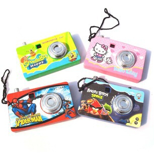 Toy cameras digital infantil mini plastic appareil photo spider man,hello kitty for children ids birthday gift free shipping(China (Mainland))