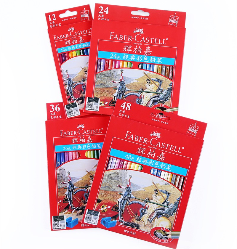 faber castell classic colour pencils 12 24 36 48 set art paint drawing crafts ebay. Black Bedroom Furniture Sets. Home Design Ideas