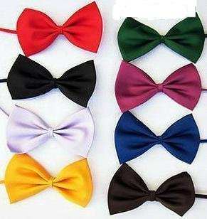 Polyester Silk Cheap Boys Bow Tie / Fashion Solid Color Casual Bowtie (KF-03)