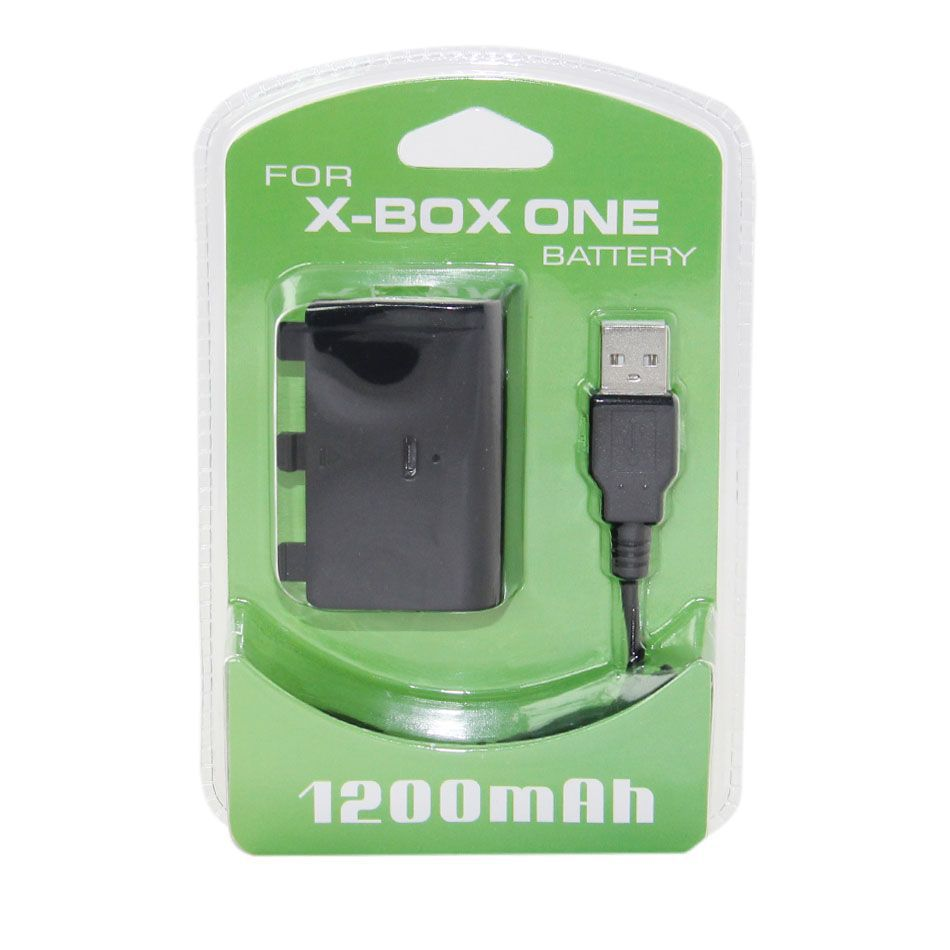 New replacement 1200mAH USB Rechargeable Play and Charge Battery Charger Kit with USB Cable For Xbox ONE Controller(China (Mainland))
