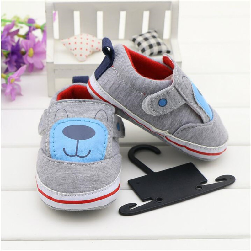 Lovely cartoon animal pattern baby shoes 2016 simple comfortable soft sole Anti-slip shoes(China (Mainland))