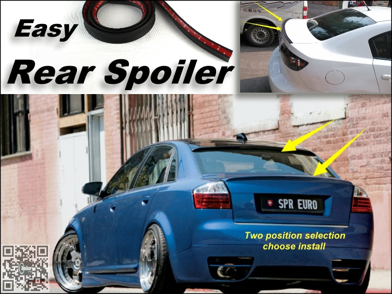 Root / Rear Spoiler For Audi Audi A4 S4 RS4 2000~2014 Trunk Splitter / Ducatail Deflector For Easy Tuning / Free Modeling(China (Mainland))