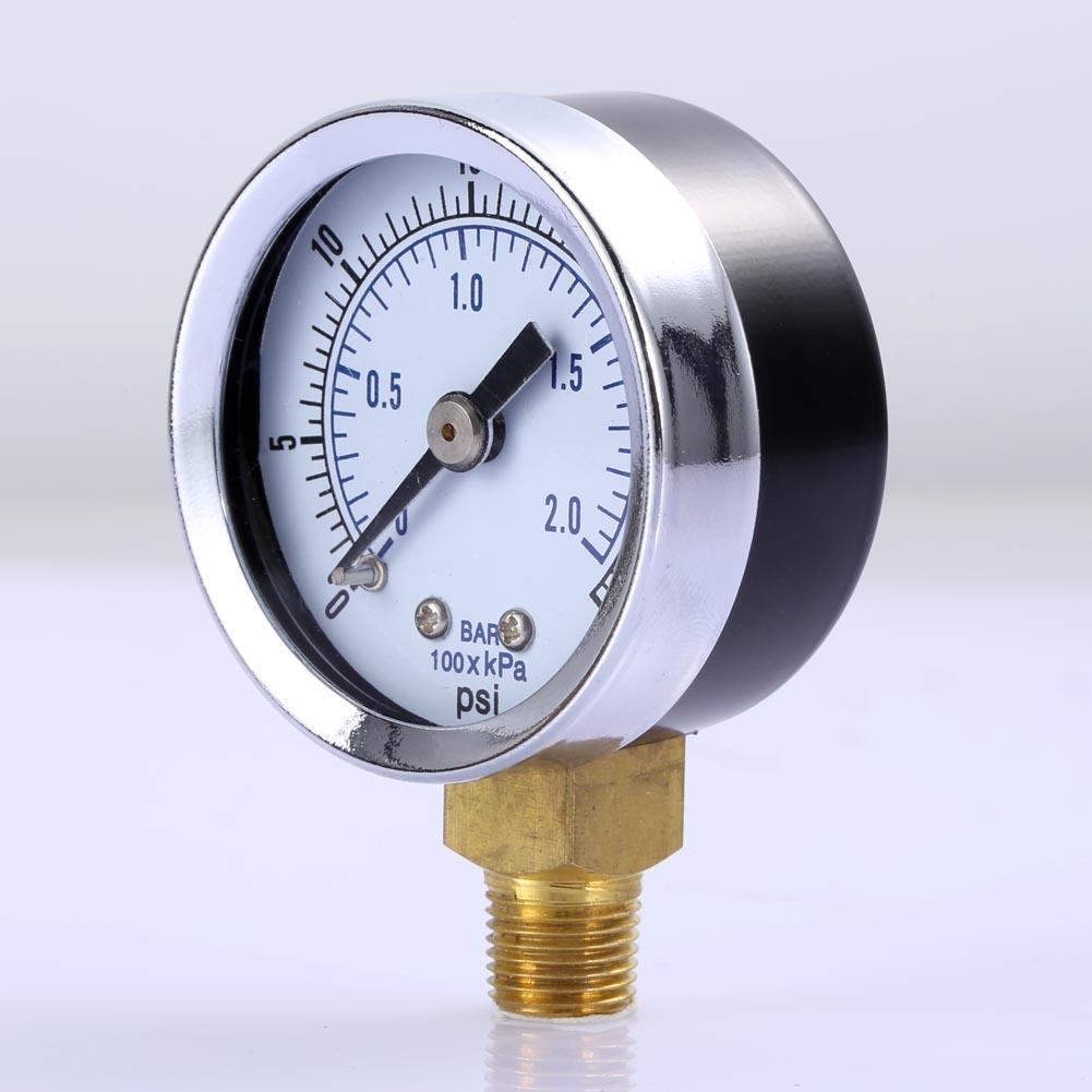 "1//8/"" NPT Pressure Gauge Compressor Air Hydraulic Pressure 0-30 PSI Bottom Mount"