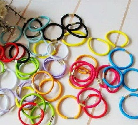 Wholesale! 100pcs Baby girl Kids tiny Hair accessaries Hair bands Elastic Ties Ponytail Holder