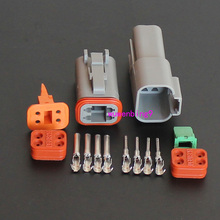 Buy 2sets 4Pin Automotive Waterproof Electrical Wire Connector Plug DT04-4p DT06-4S for $12.00 in AliExpress store