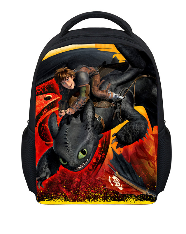2015 New arrival How to train your dragon 12' kids backpack for school,small cartoon children backpack for boys/girls baby bag(China (Mainland))