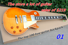 Wholesale custom shop 1959 R9 AAA best tiger fire electric guitar EMS free shipping(China (Mainland))