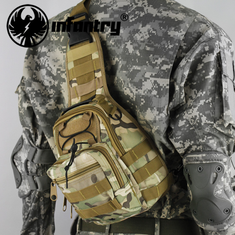 Infantry Military Tactical Attack Camouflage Messenger Cross Shoulder Bags Rucksacks Sports Day Pack NEW(Hong Kong)