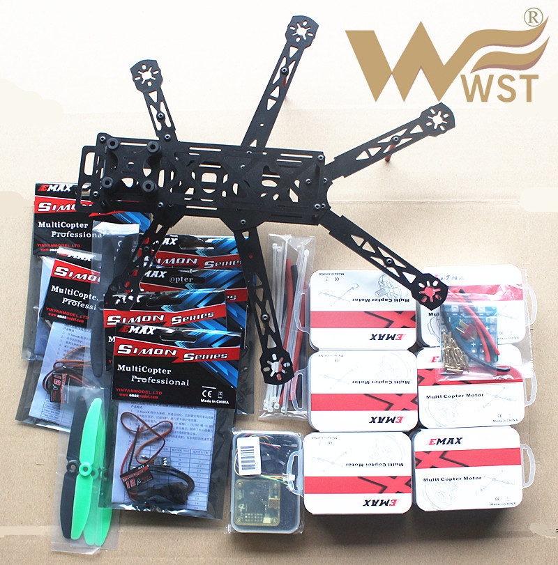 WST FPV Drones Hexacopter DIY Mini TH320 Fiberglass Frame Kit Set With EMAX