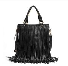 hot sale tassels bag women messenger bag Suede Weave leather handbags big brand tote bags Fringe shoulder bag Bolsas Femininas(China (Mainland))