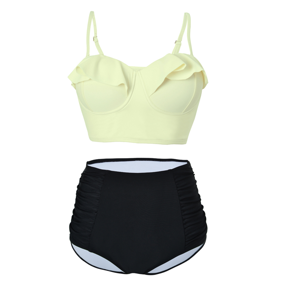 2018 High Waist Bikinis Women Swimsuit Plus Size Swimwear Bathing Suits Retro Floral Push Up Bikini Set Beach Wear Biquini
