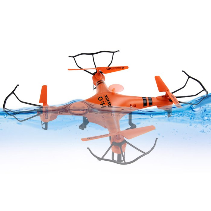 Waterproof Mini Drone GPTOYS H2O 2.4GHz 4CH RC Helicopter 3D Eversion 6-Axis Gyro Headless Mode Remote Control Quadcopter(China (Mainland))