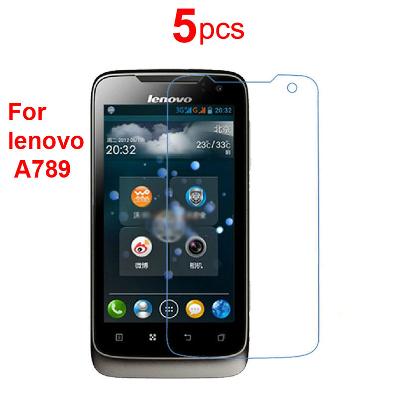 5pcs High Clear Best Cell Phone Screen Protector Anti-scratch Protective Film Guard Shield Saver For Lenovo A789 Free shipping(China (Mainland))