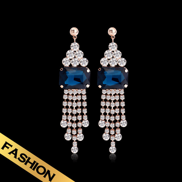 Special Tassel Earrings Synthetic Zircon Western Style Fashion Classic Autumn New Style Jewelry EH13A080520