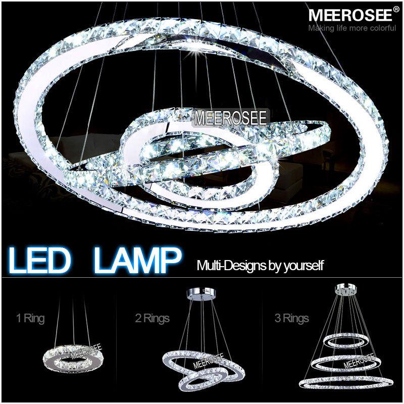 Hot sale Diamond Ring LED Crystal Pendant Light Modern LED Lighting Circles Hanging Lamp 100% Guarantee Fast and Free Shipping(China (Mainland))