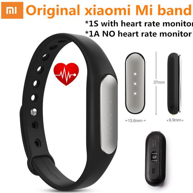 Оригинальный Xiaomi Mi группа 1A 1 S смартфон Xiaomi Miband монитор сердечного ритма пульс 1 S фитнес браслет IP67 браслет для Android / IOS