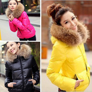 Thin 2012 women's candy color thickening cotton-padded jacket short design slim wadded jacket cotton-padded jacket female winter