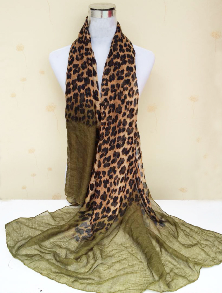 Big Size Long scarf 7 Colors Leopard grain Scarf Viscose Wraps Shawl Beach Scarf Print Scarf Women 90*180 7012(China (Mainland))