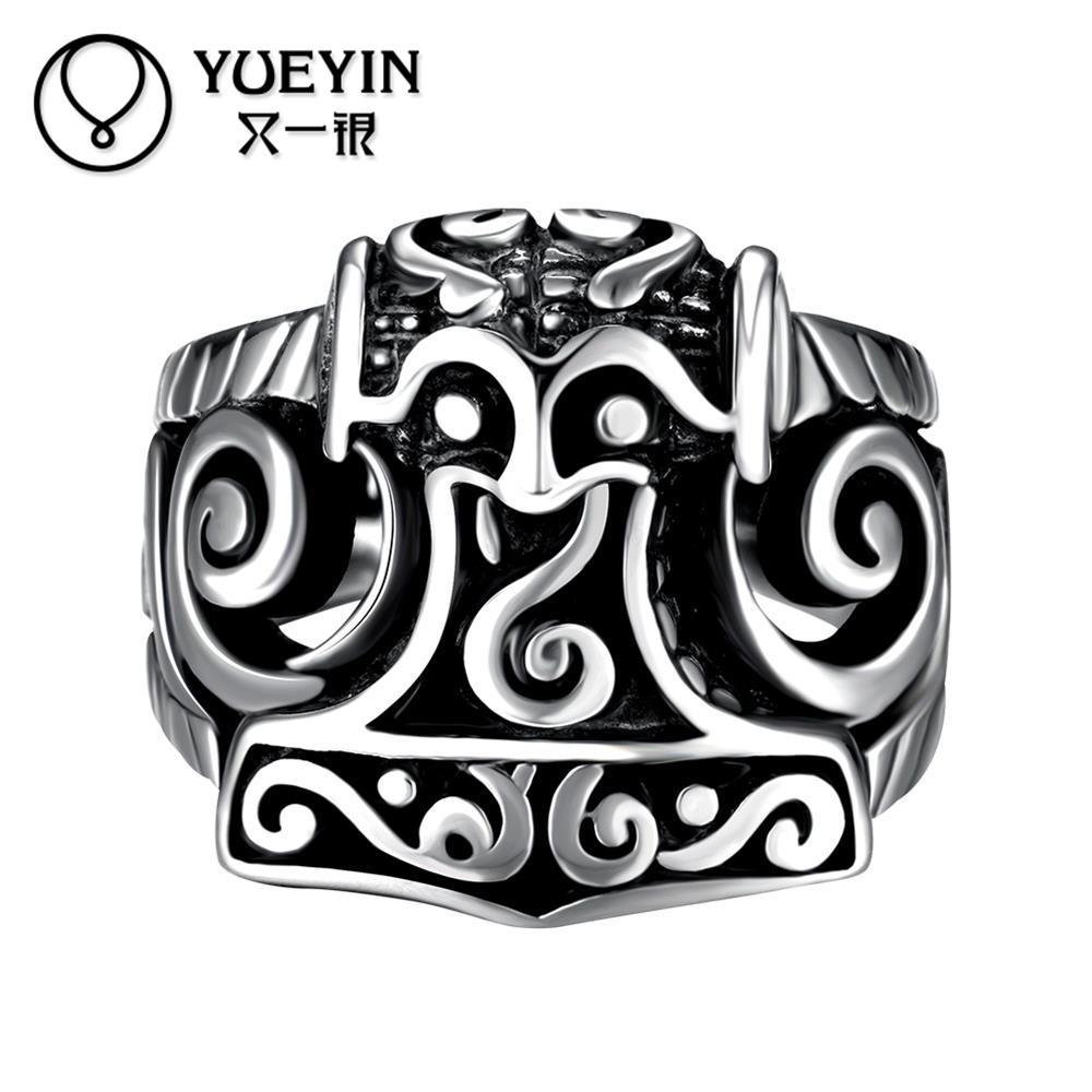 Star celebrity men styles ring men s big ring stainless steel ring