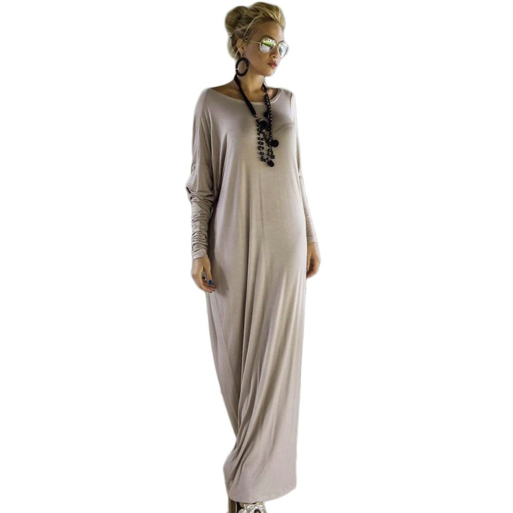 Women Long Dress Long Sleeve Maxi Dress Casual Sexy Fall Full Sleeve Loose Wrap Oversize Irregular Elegant Party Dresse vestidos (14)